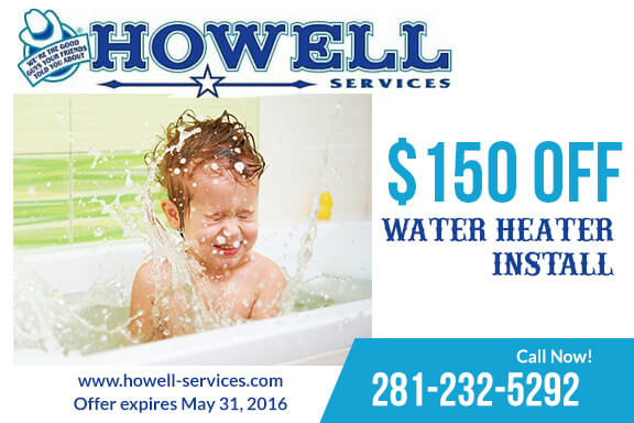 Water Heater $150 Coupon
