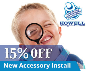 15% off with Howell Services on new accessory install