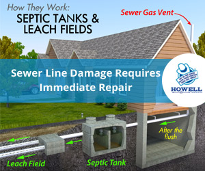 Howell Services - Sewer Line Damage Requires Immediate Repair