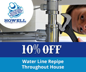 10% off Howell Services coupon