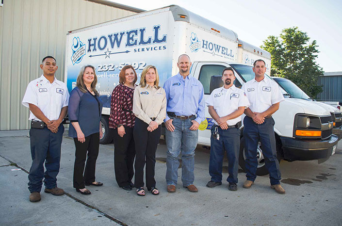 The Howell Services standing at the headquarters