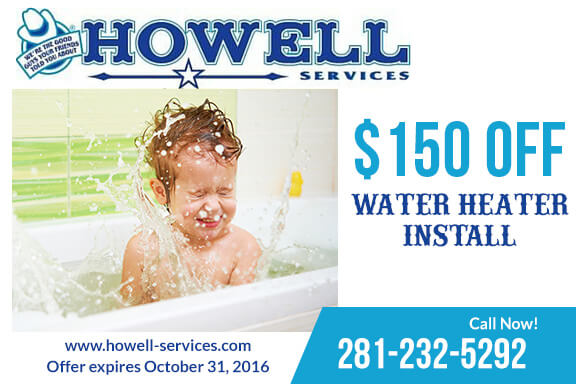 $10 off water heater - sugar land plumbers