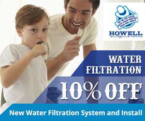 10% off new water filtration system and install